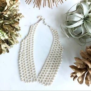 Vintage pearl collar necklace